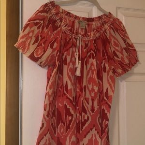 Lucky brand tassel blouse.  Perfect condition.